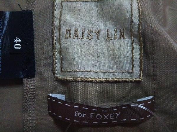 DAISY LIN(デイジーリン) ワンピース サイズ40 M レディース 黒×ベージュ for FOXEY