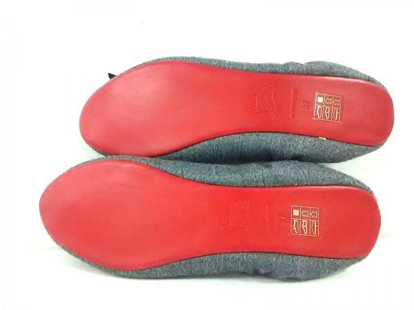 CHRISTIAN LOUBOUTIN(クリスチャンルブタン) 靴 37 レディース グレー リボン ウール