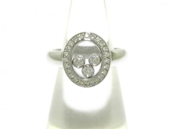 ショパール リング美品  ハッピーダイヤモンド 82/2073-20 K18WG×ダイヤモンド