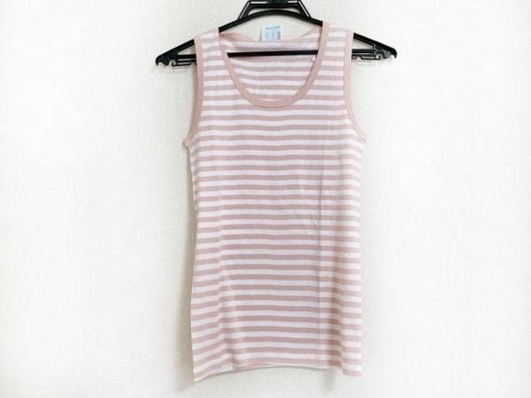 ルトロワ ノースリーブTシャツ サイズM レディース新品同様  ピンク×白 ボーダー