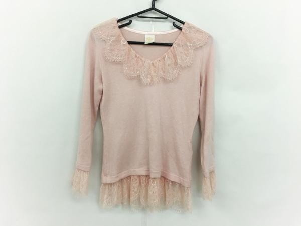 ele couture(エレクチュール) セーター サイズS レディース美品  ピンク レース