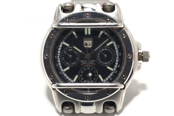 ELGIN(エルジン) 腕時計 FK-948-A メンズ トリプルカレンダー 黒