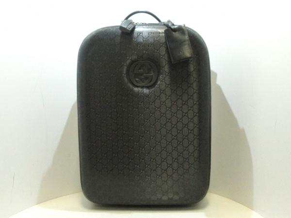 GUCCI(グッチ) キャリーバッグ インプリメ 189754 黒 PVC(塩化ビニール)×レザー