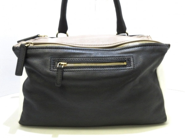 GIVENCHY(ジバンシー) ハンドバッグ パンドラ ミディアム 黒×白×ベージュ レザー