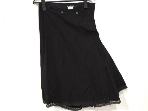 マークルビアン スカート サイズ0 XS レディース新品同様  黒 ダメージ加工/レース