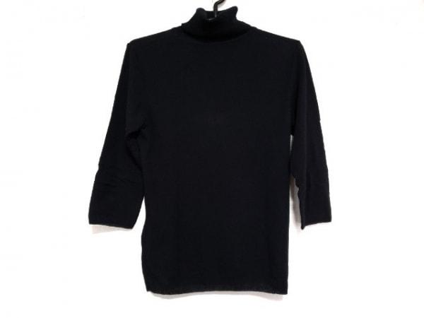 ロイスクレヨン 七分袖セーター サイズM レディース新品同様  黒 タートルネック