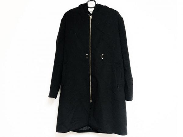 インタープラネット コート サイズ2 M レディース美品  黒 冬物/フェイクファー