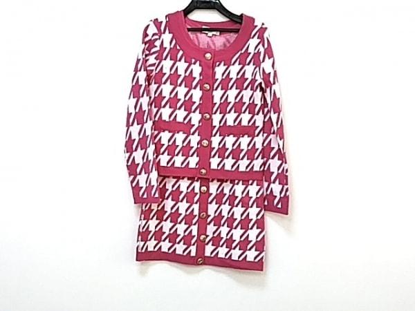 エミリアウィズ ワンピースセットアップ サイズS レディース美品  アイボリー×ピンク
