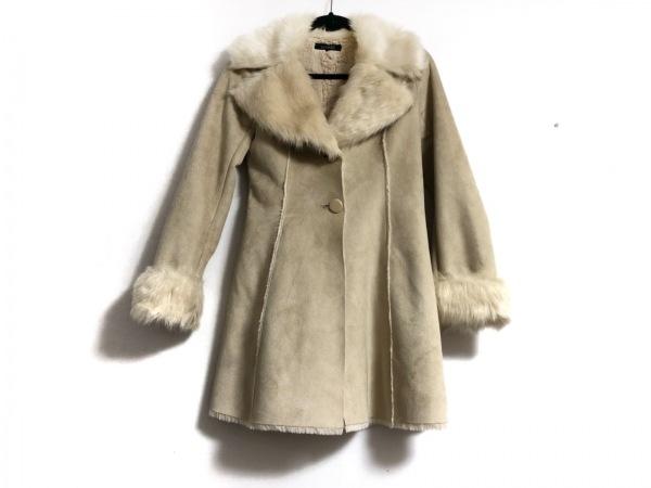 rienda(リエンダ) コート サイズS レディース美品  ベージュ フェイクムートン/冬物