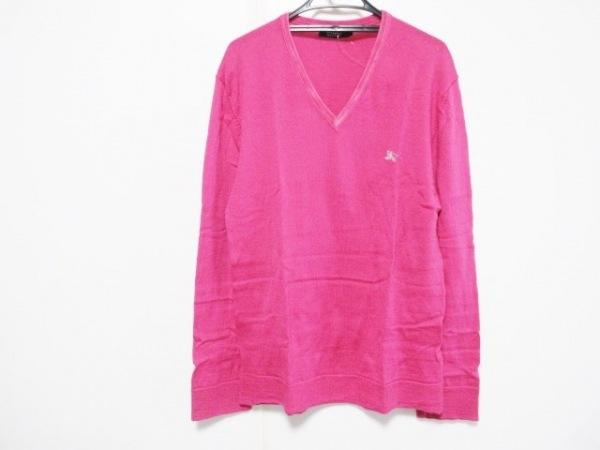 バーバリーブラックレーベル 長袖セーター サイズ3 L メンズ ピンク