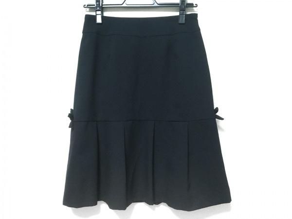 ギャラリービスコンティ スカート サイズ2 M レディース美品  黒 リボン