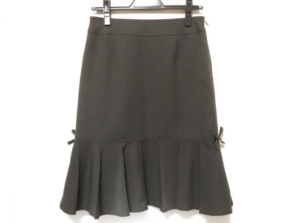 ギャラリービスコンティ スカート サイズ2 M レディース ダークグレー リボン