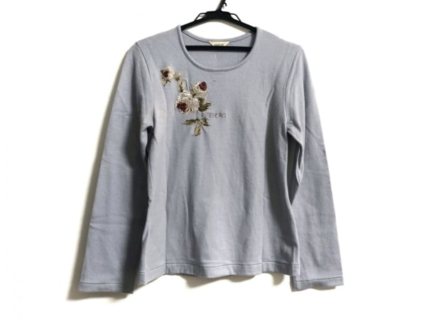 INGEBORG(インゲボルグ) 長袖セーター サイズM レディース美品  ライトグレー 刺繍
