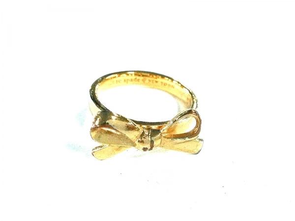 Kate spade(ケイトスペード) リング美品  金属素材 ゴールド リボン