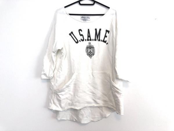 AMERICANA(アメリカーナ) トレーナー レディース美品  白×グレー 七分袖