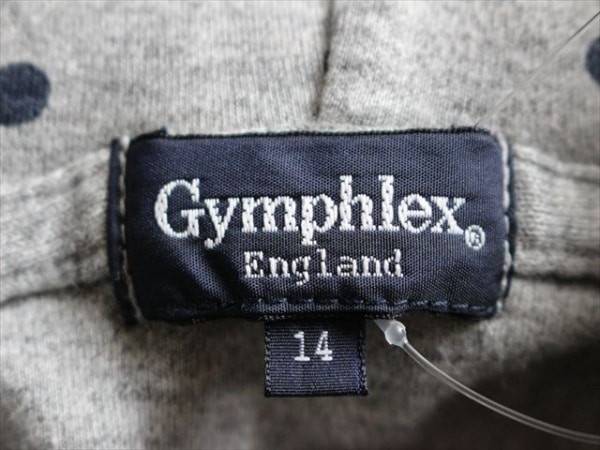 ジムフレックス パーカー サイズ14 XL レディース美品  グレー×ダークネイビー