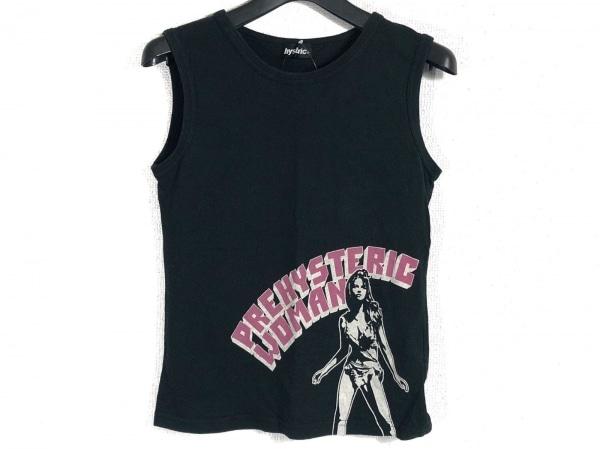 HYSTERIC(ヒステリック) ノースリーブTシャツ サイズF レディース 黒×マルチ