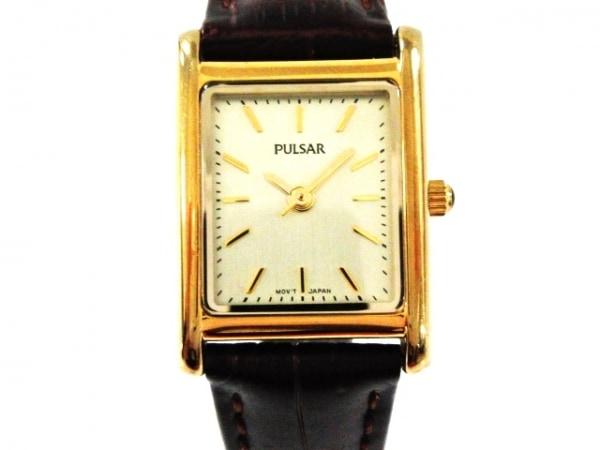 PULSAR(パルサー) 腕時計 VJ21-X085 レディース 革ベルト ゴールド