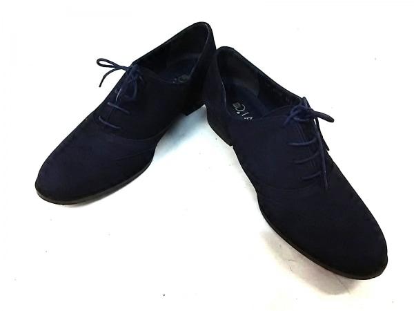ダイアナ 靴 24 レディース - - ネイビー 靴 (その他)/ウィングチップ スエード