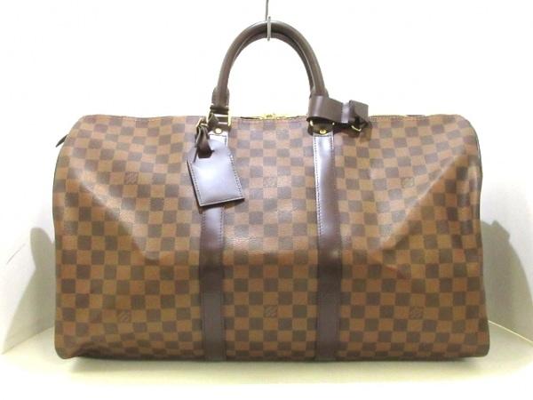 LOUIS VUITTON(ルイヴィトン) ボストンバッグ ダミエ美品  キーポル50 N41427 エベヌ