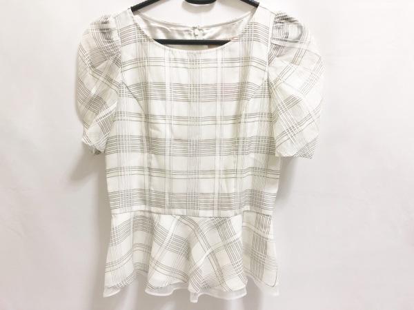 アプワイザーリッシェ 半袖カットソー レディース美品  白×黒 チェック柄