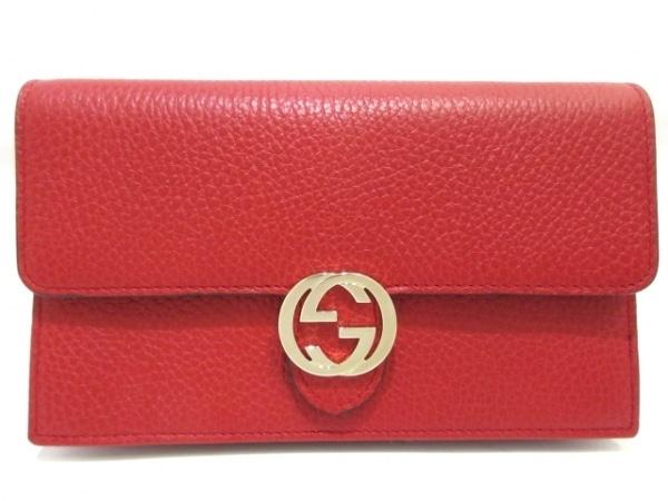 GUCCI(グッチ) 財布美品  ダブルG 510314 レッド レザー