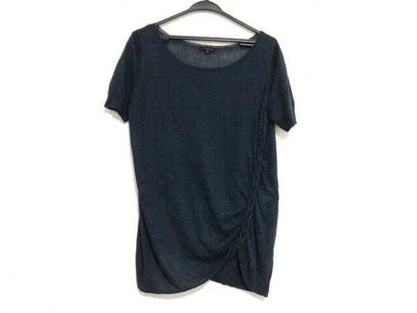 theory(セオリー) 半袖セーター サイズ2 S レディース美品  ネイビー シースルー