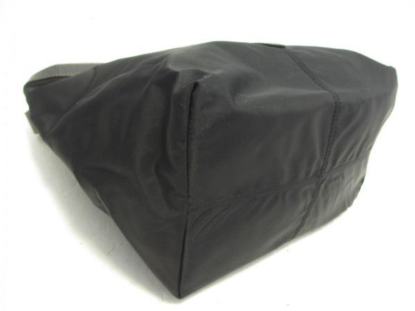 IL BIANCO(イルビアンコ) トートバッグ 黒 ナイロン×レザー