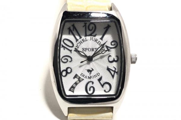 ミッシェルジョルダン 腕時計 - SL-1000 レディース SPORT/5Pダイヤ 白