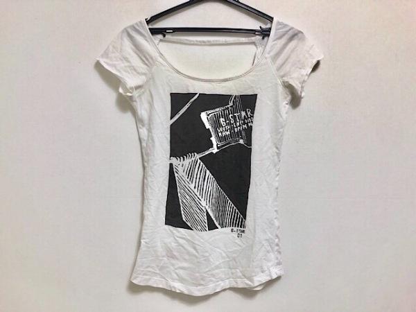G-STAR RAW(ジースターロゥ) Tシャツ サイズXS レディース 白×黒