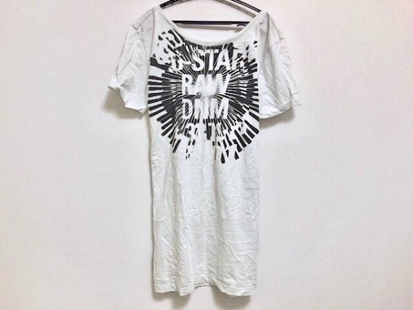 ジースターロゥ 半袖Tシャツ サイズS レディース美品  ライトグレー×ダークグレー