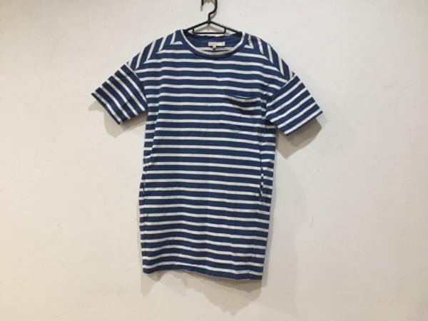 demylee(デミリー) 半袖Tシャツ サイズXS メンズ美品  ブルー×白 ボーダー