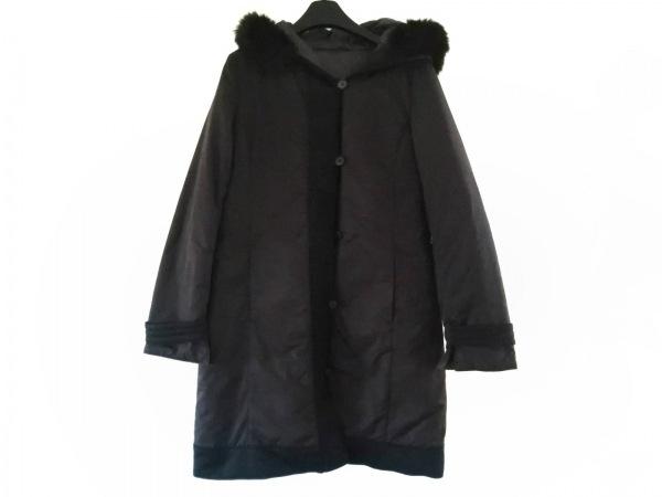 ポールスチュアート ダウンコート サイズ8 M レディース 黒 冬物/リバーシブル