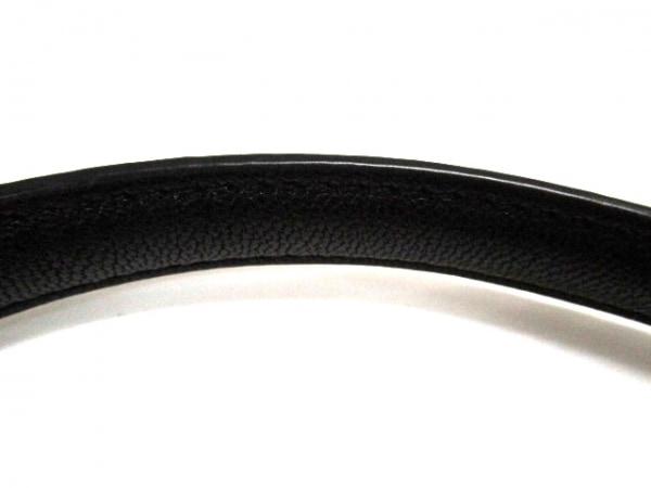 HASHIBAMI(ハシバミ) ショルダーバッグ 黒 巾着型/フリンジ ナイロン×レザー