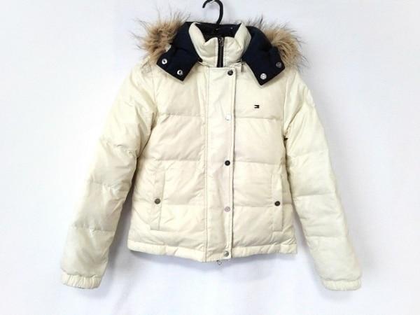 トミーヒルフィガー ダウンジャケット サイズS レディース 白 リバーシブル/冬物