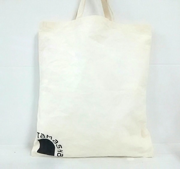 TAMASHA(タマシャ) ハンドバッグ新品同様  アイボリー×黒 コットン