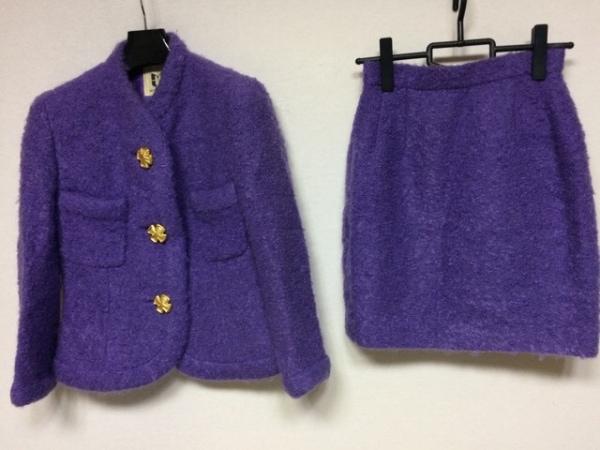 MUSEE D'UJI(ミュゼドウジ) スカートスーツ サイズ38 M レディース パープル 冬物