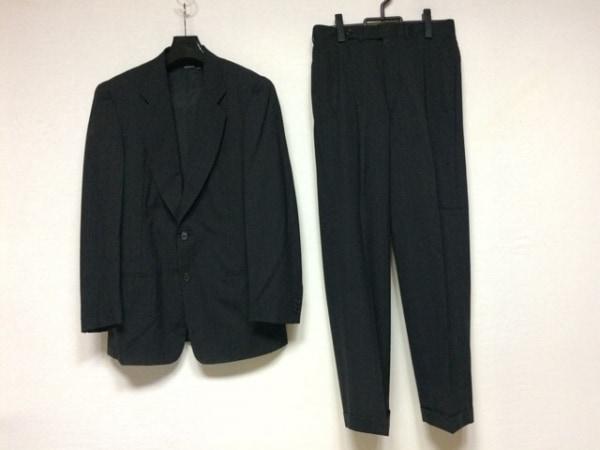 ジョルジオアルマーニクラシコ シングルスーツ サイズ46 XL メンズ 黒×ブルー