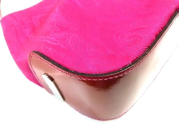 ETRO(エトロ) ショルダーバッグ美品  ピンク×レッド ペイズリー柄