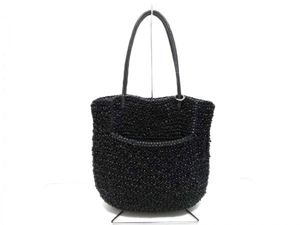 ANTEPRIMA(アンテプリマ) ハンドバッグ美品  ワイヤーバッグ 黒 ワイヤー×化学繊維