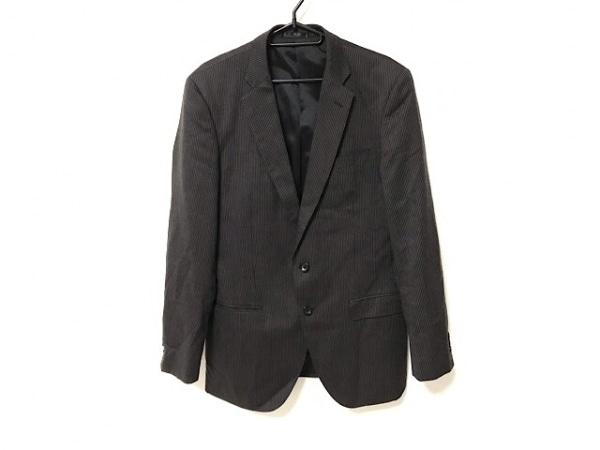MALE&Co(メイルアンドコー) シングルスーツ サイズY7 メンズ ダークグレー×白