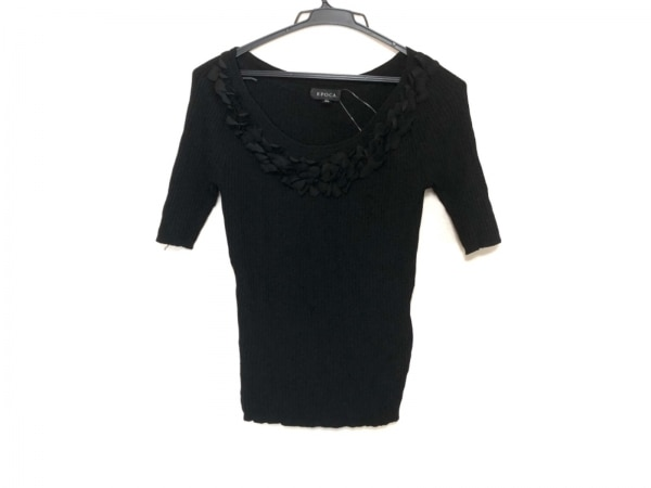 EPOCA(エポカ) セーター サイズ40 M レディース美品  黒 フリル