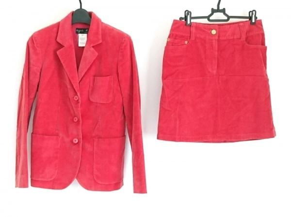 agnes b(アニエスベー) スカートスーツ サイズ36 S レディース レッド