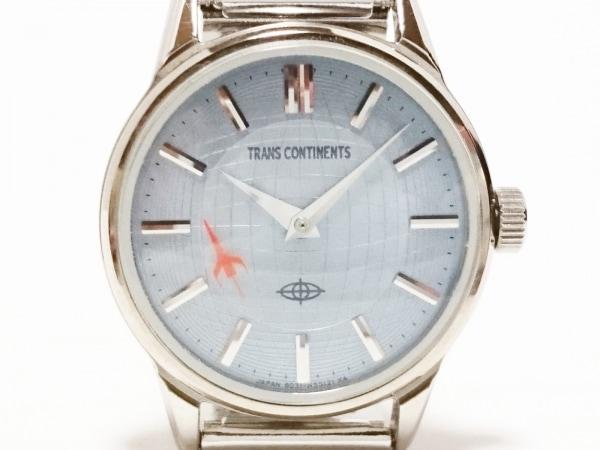 トランスコンチネンス 腕時計美品  6031-L 15227 レディース ライトブルー