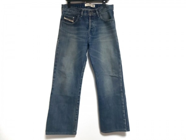 DIESEL(ディーゼル) ジーンズ サイズ32 XS メンズ CARDIEL ブルー ダメージ加工