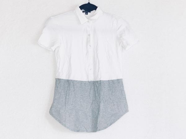 theory(セオリー) 半袖ポロシャツ サイズS レディース アイボリー×グレー