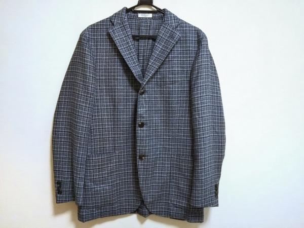 BOGLIOLI(ボリオリ) ジャケット メンズ美品  ブルー×白×マルチ ツイード