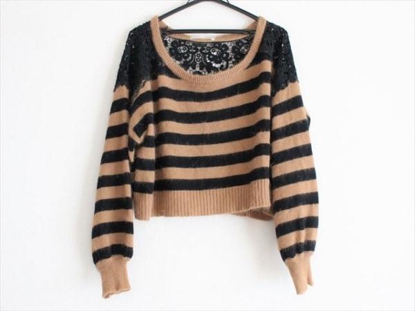 snidel(スナイデル) 長袖セーター サイズF レディース美品  ブラウン×黒