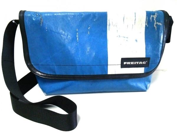 FREITAG(フライターグ) ショルダーバッグ ブルー×アイボリー PVC(塩化ビニール)