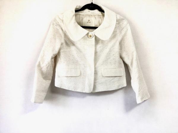 ef-de(エフデ) ジャケット サイズ9 M レディース アイボリー 刺繍